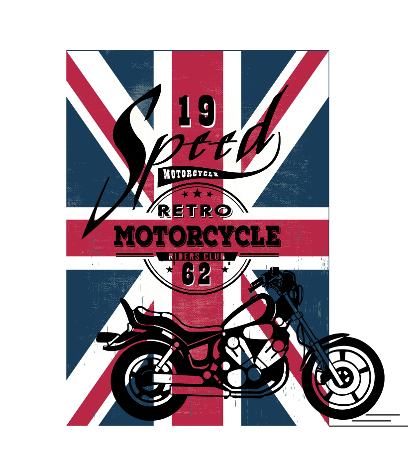 british-flag-motorcycle-typography-vectors