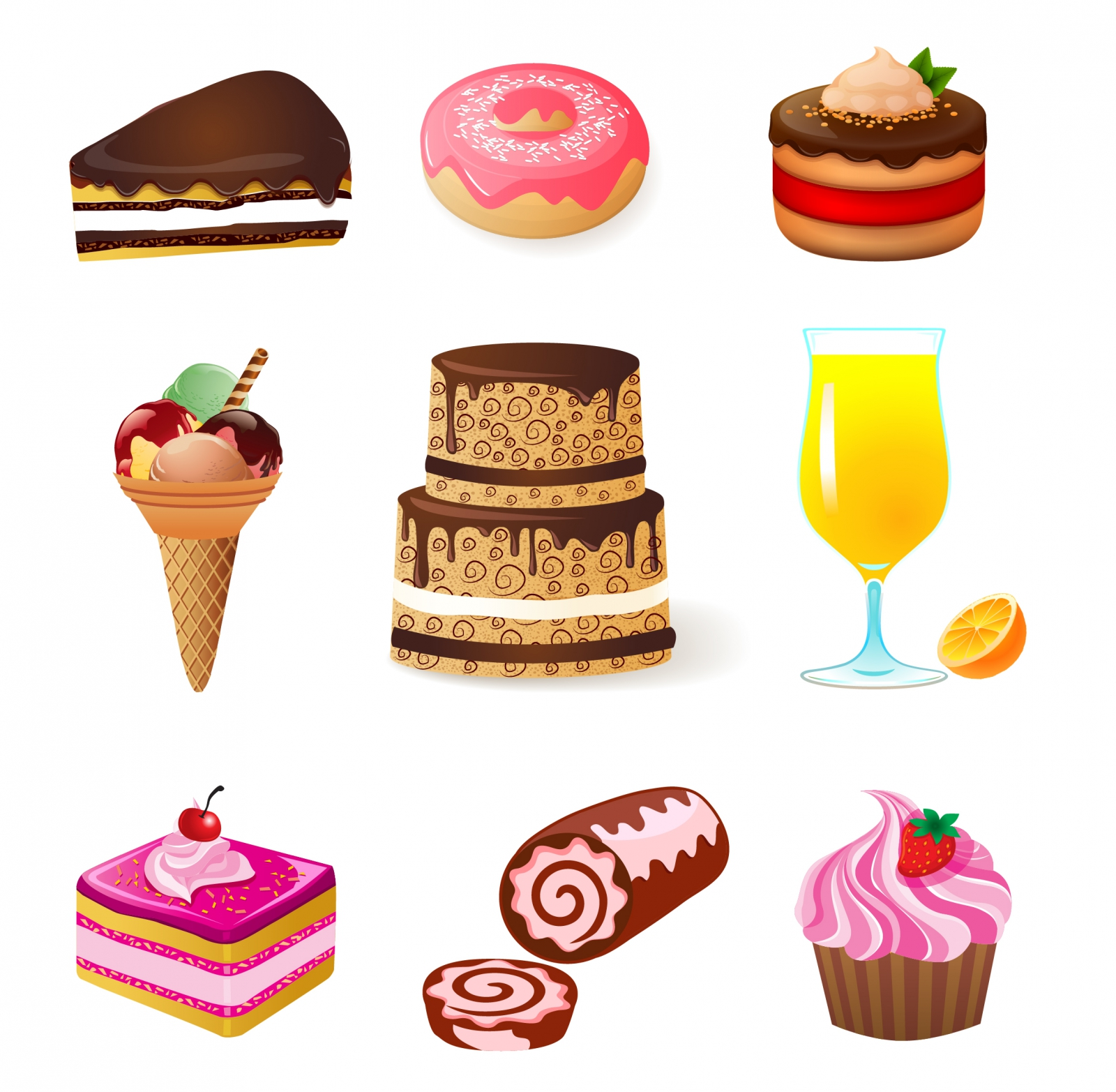 sweets_and_candies_icons_set